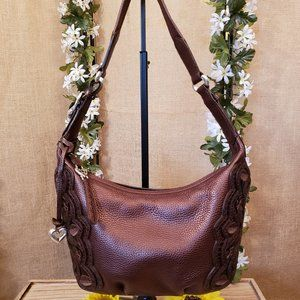 Brighton Nikki Bronze Hobo Shoulder Bag